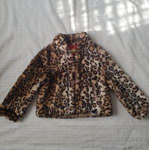 Vera Wang Leopard Print Coat